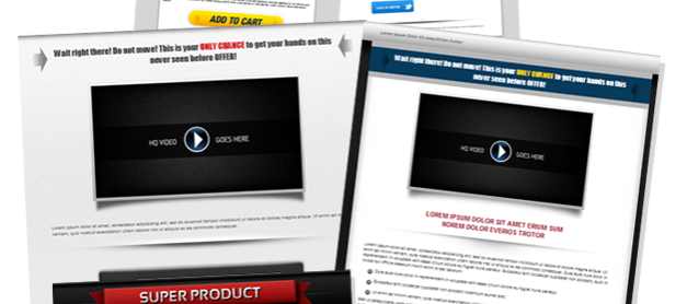 7 Landing Pages + 7 Squeeze Pages (with source file) for customer of IMBolt