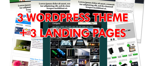 3 WordPress Theme + 3 Landing Pages