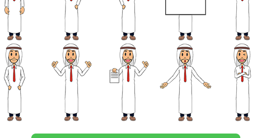 Another Whiteboard SVG Pack (Arab Prince / Businessman)